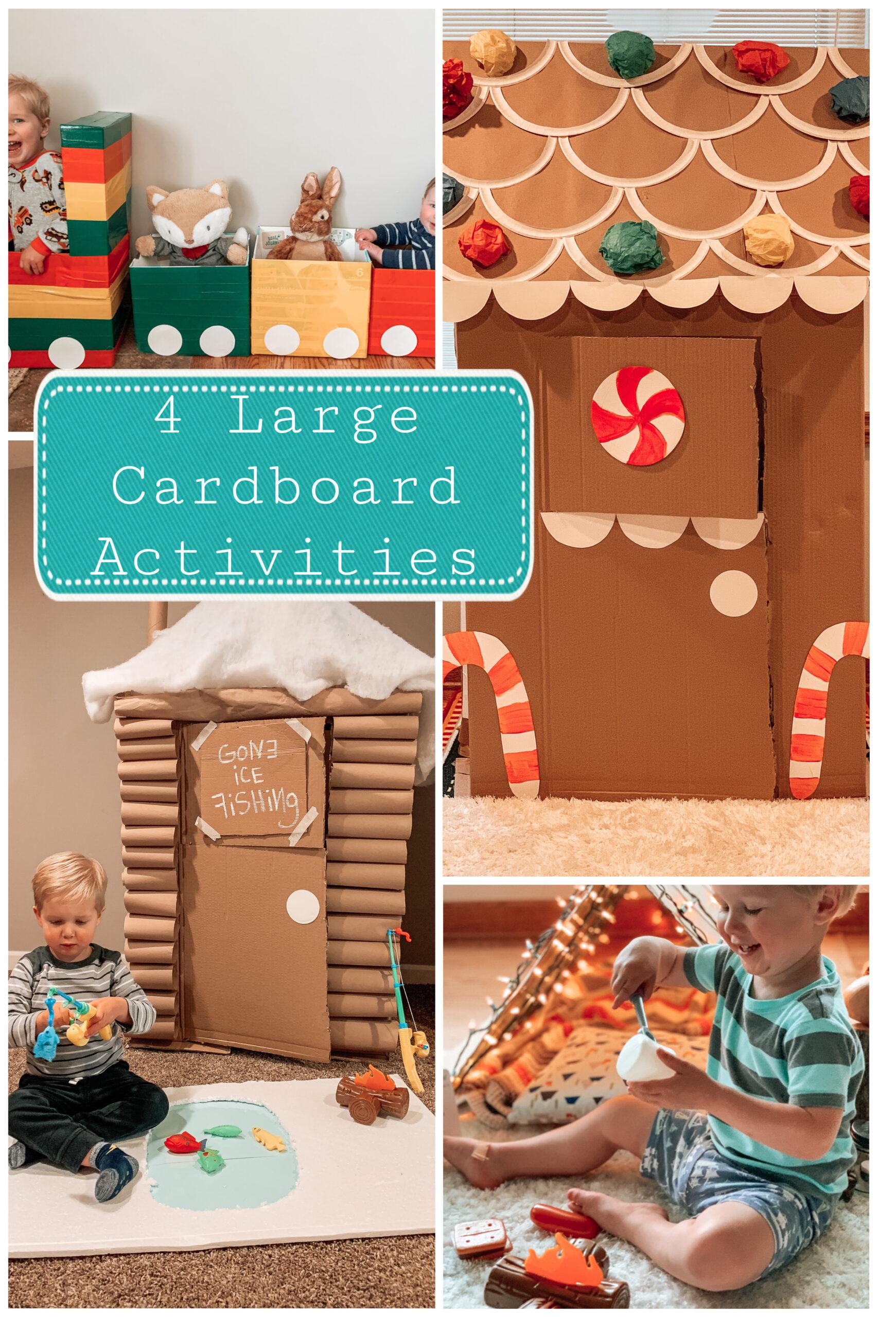 4 Large Cardboard Box Activities