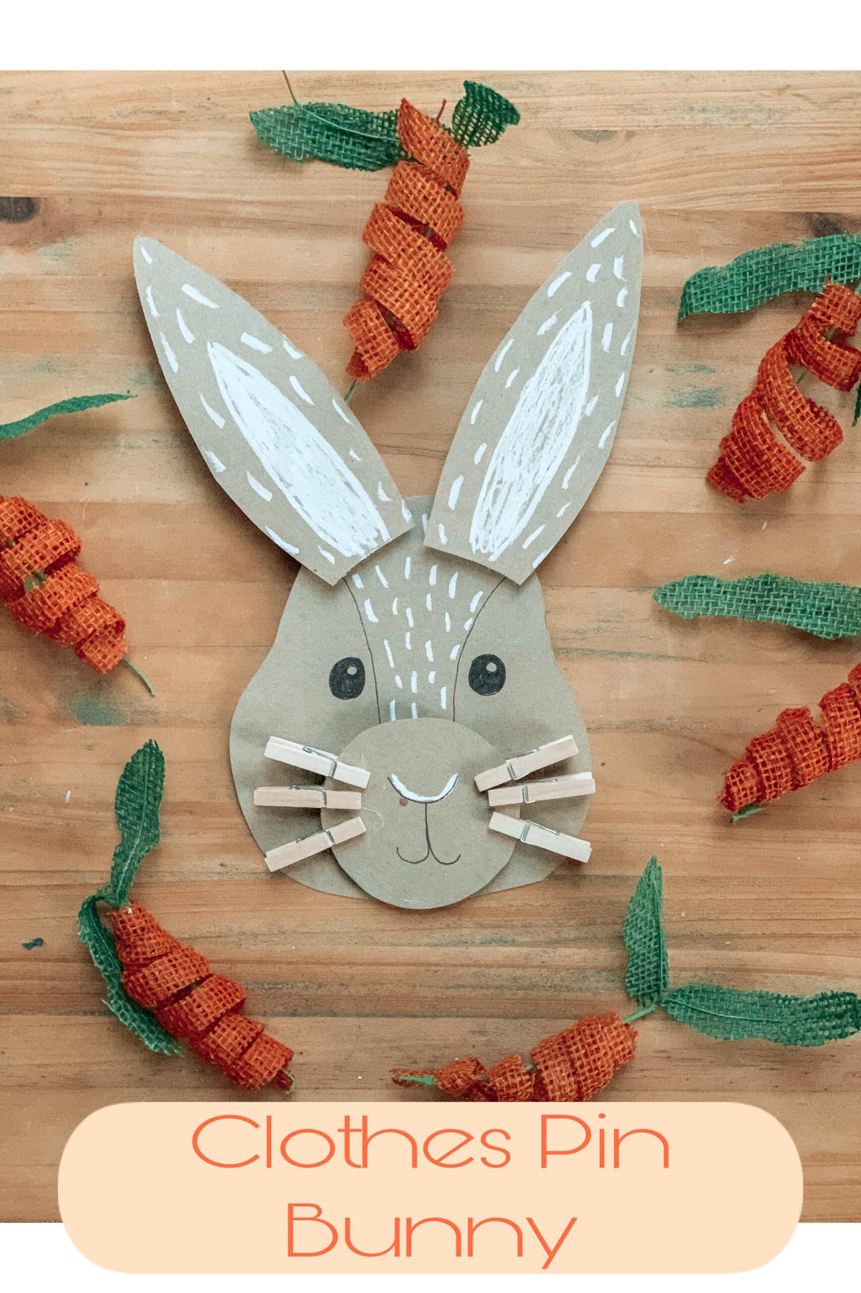 Clothes Pin Bunny