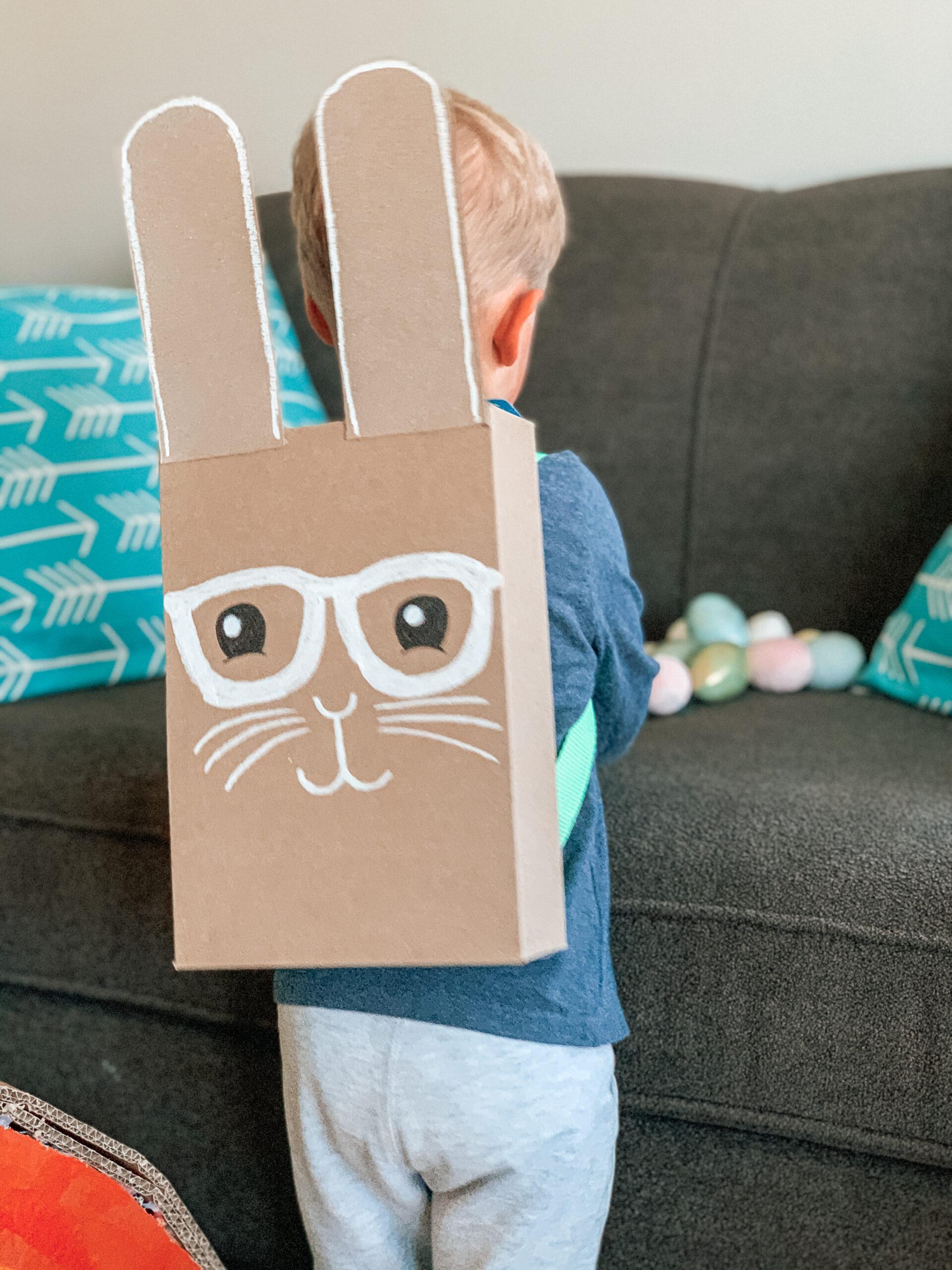 Easter egg hunt bunny backpack for kids