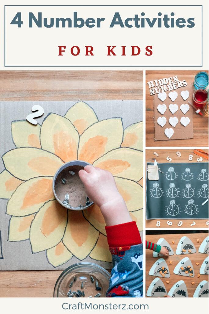 4 Number Activities For Kids