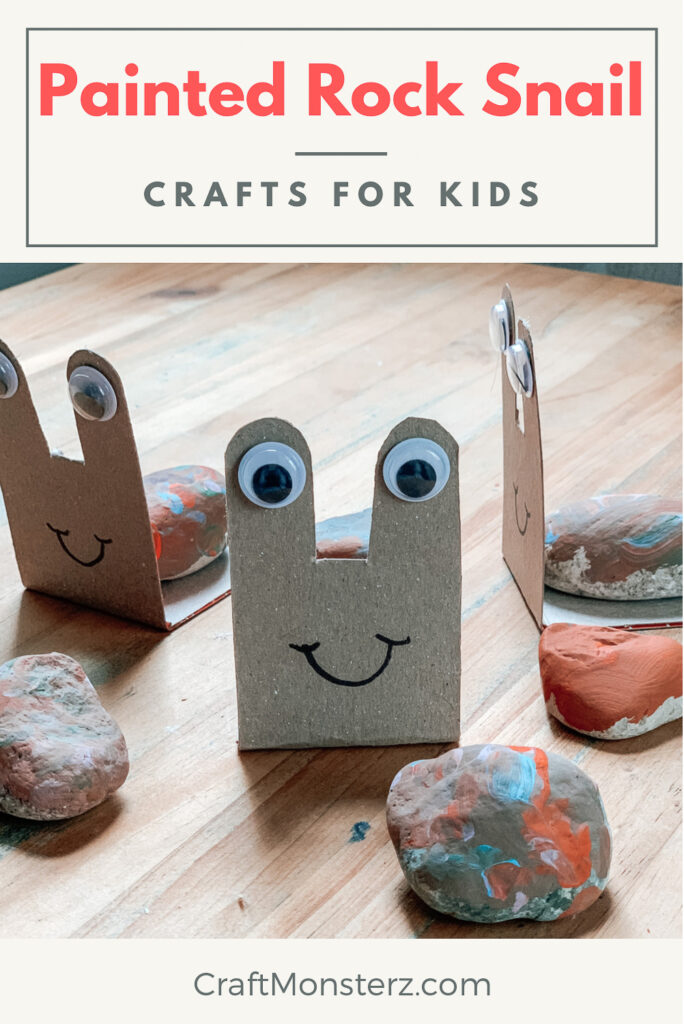 Painted snail rock craft for kids
