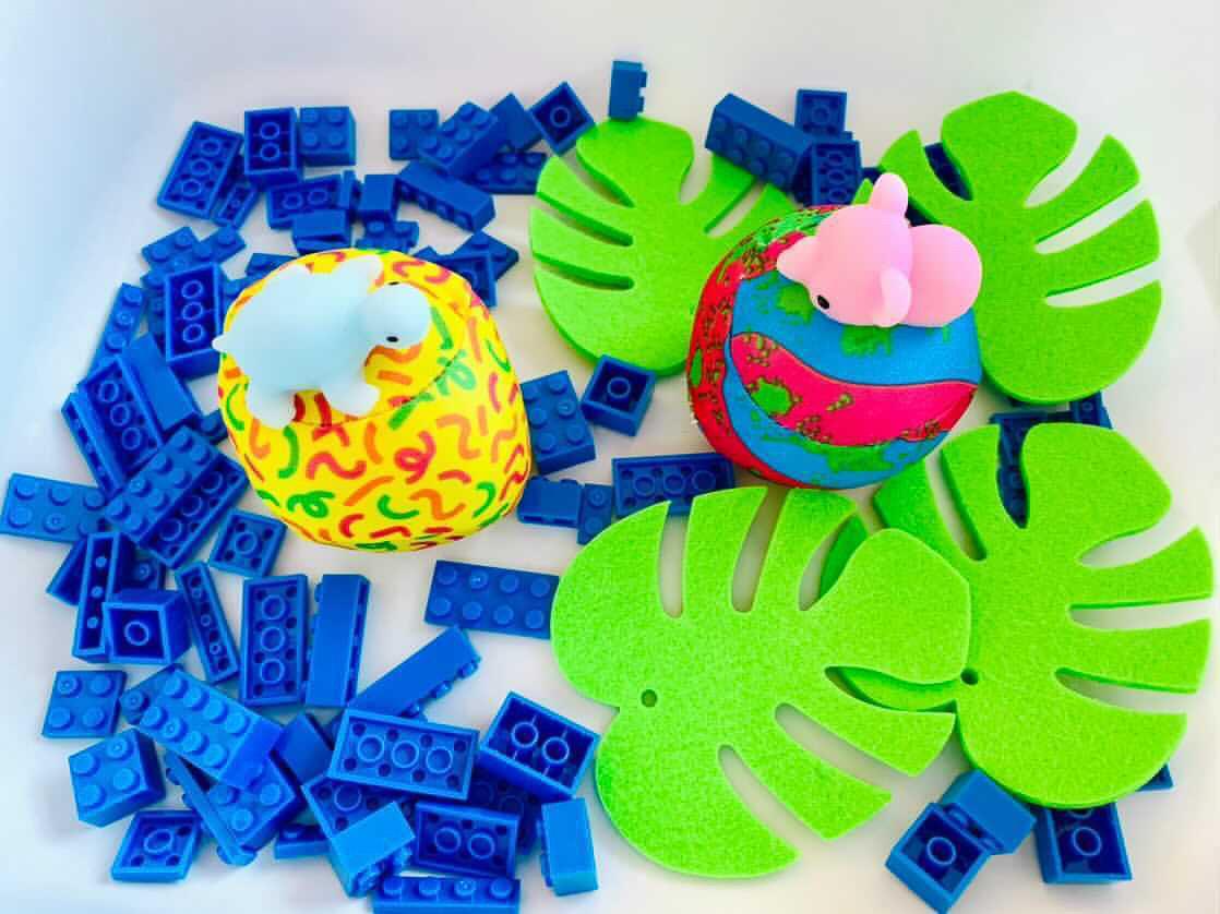 circus sensory bin play for kids
