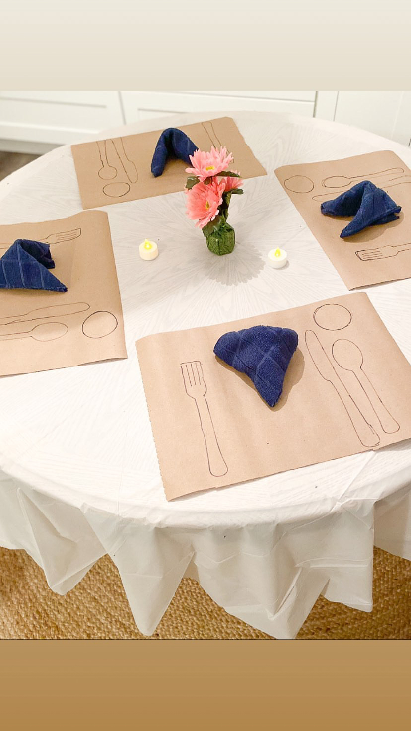 table manners learning kids activity