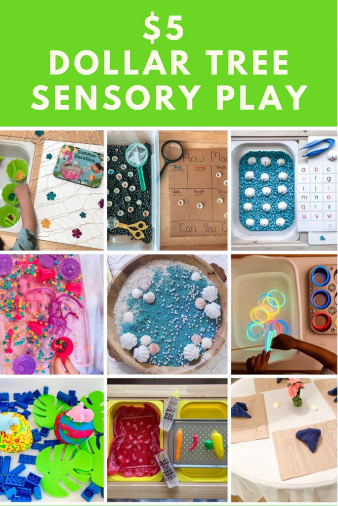$5 Dollar Tree Sensory Play Ideas