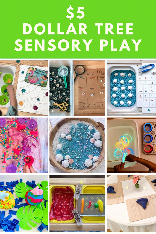$5 Dollar Tree Sensory Play