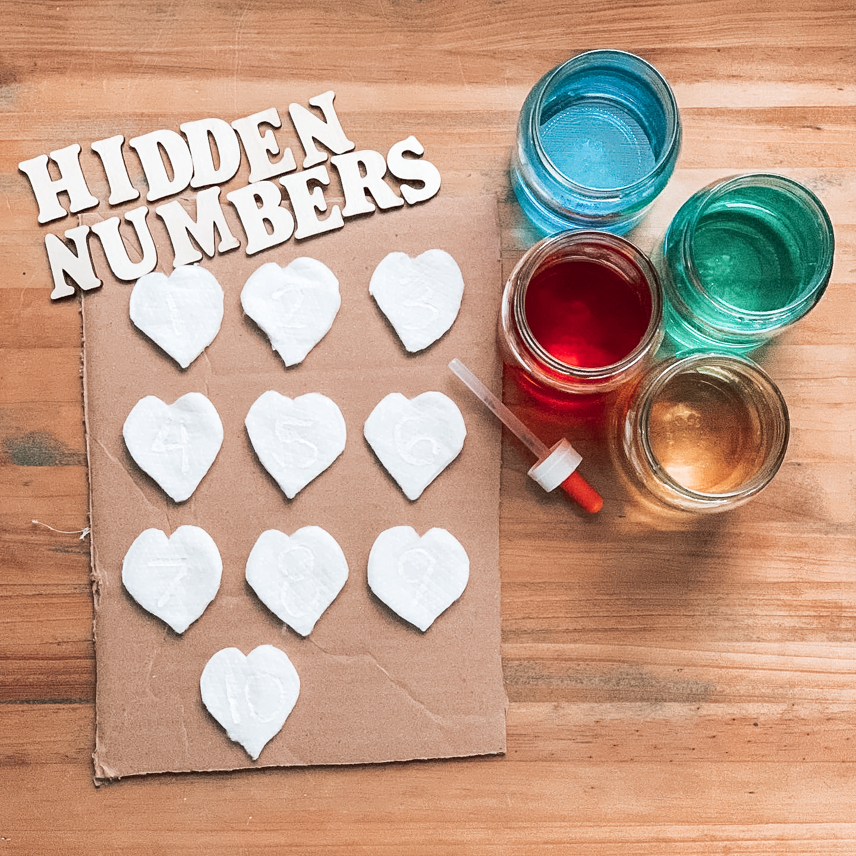 hidden number kids activity