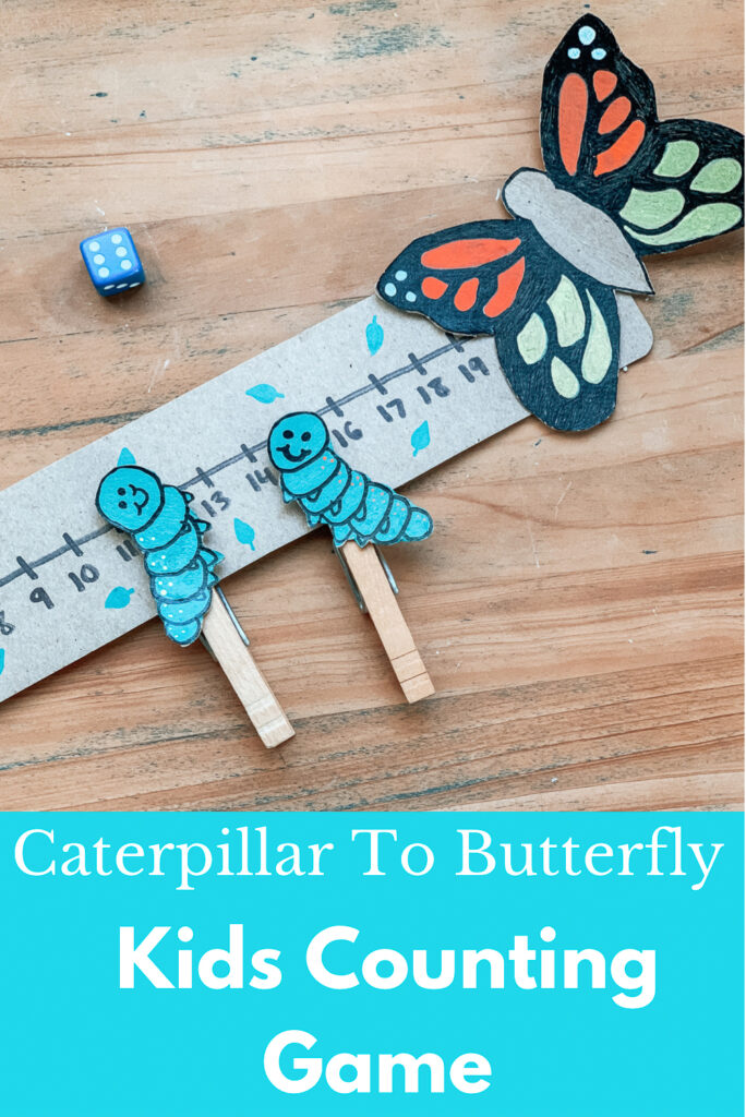 Caterpillar To Butterfly Kids Counting Game