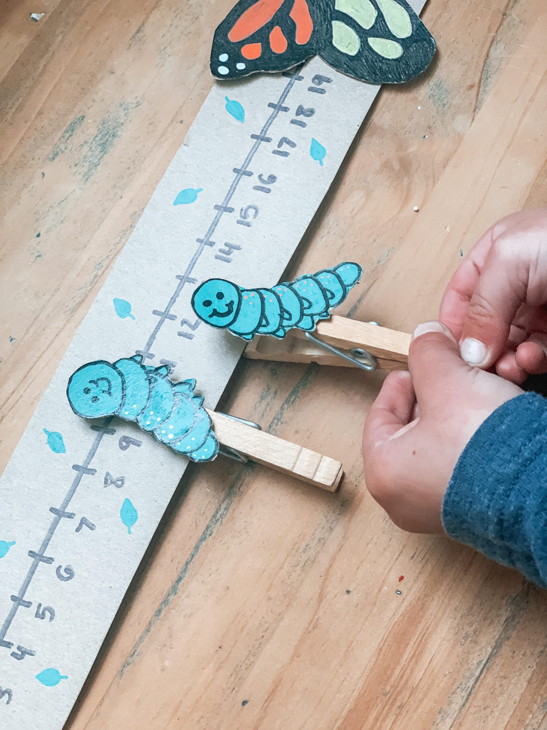child playing kids DIY counting game