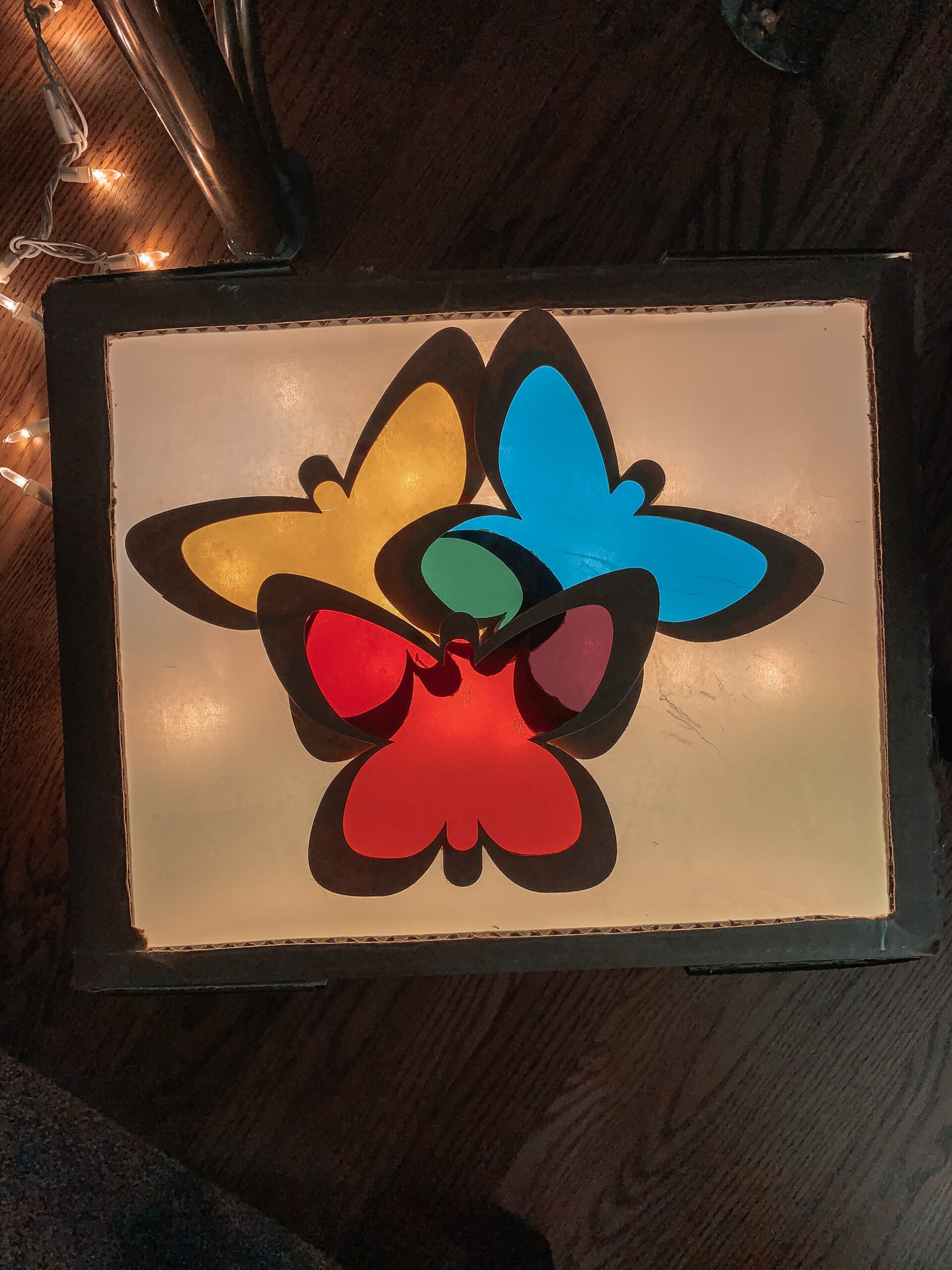 DIY light table learning activity for kids