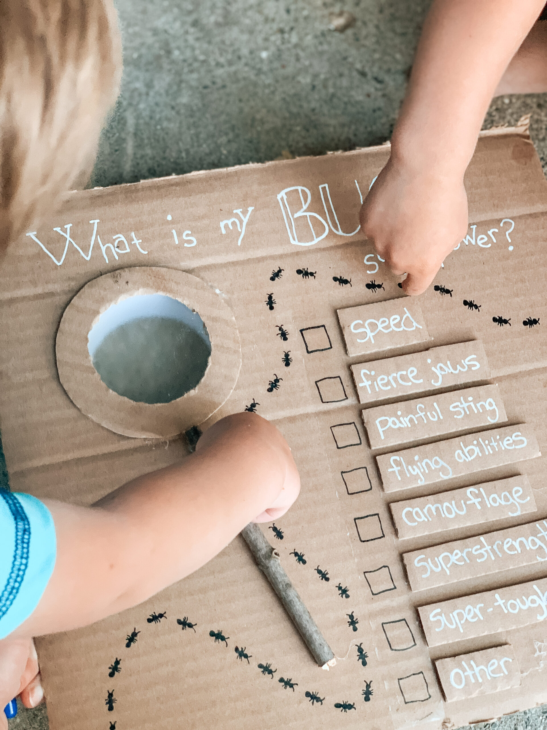 Bug exploring activity for kids