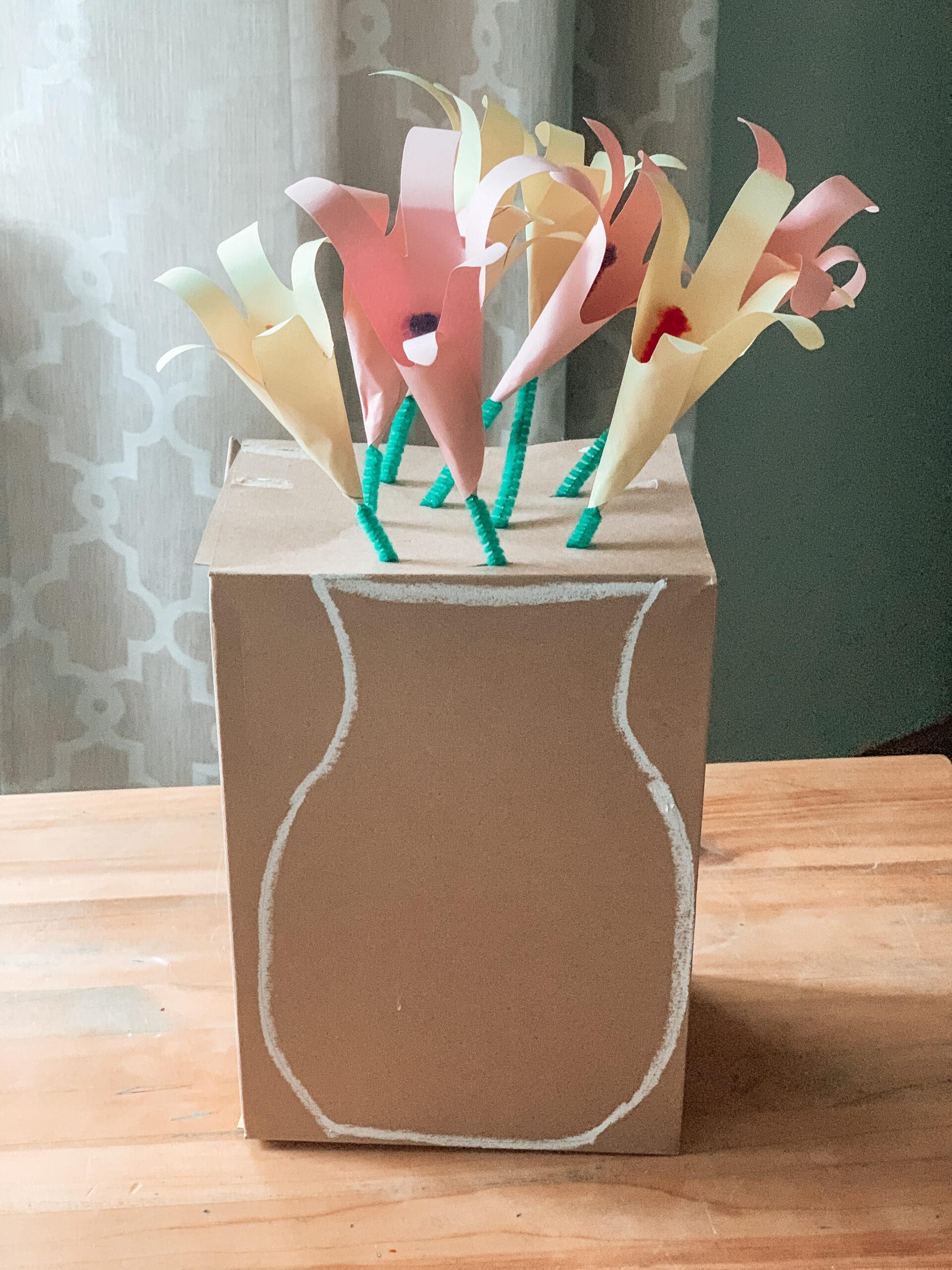 handprint flower mothers day craft for kids