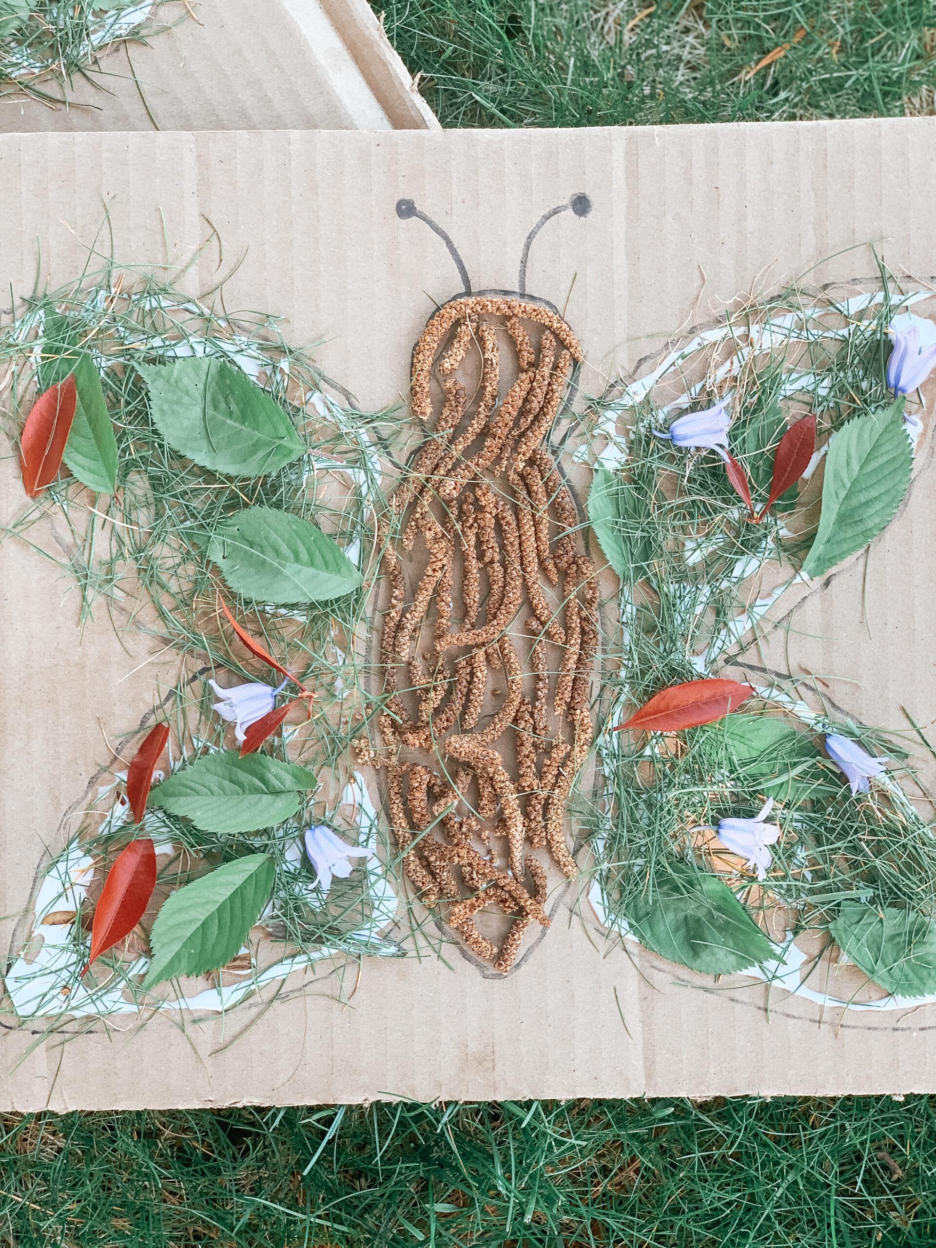 kids butterfly nature art craft