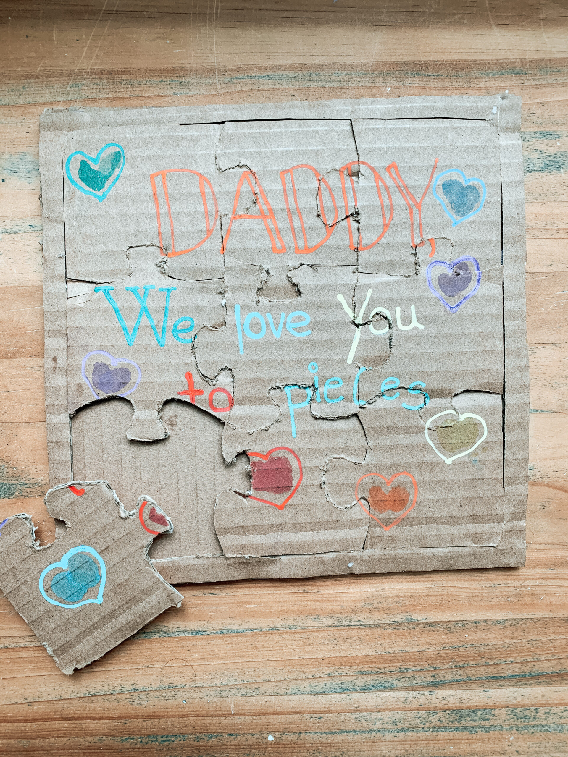 DIY Father's Day puzzle