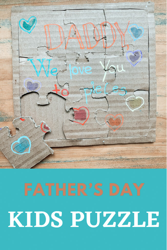 DIY Father's Day kids puzzle