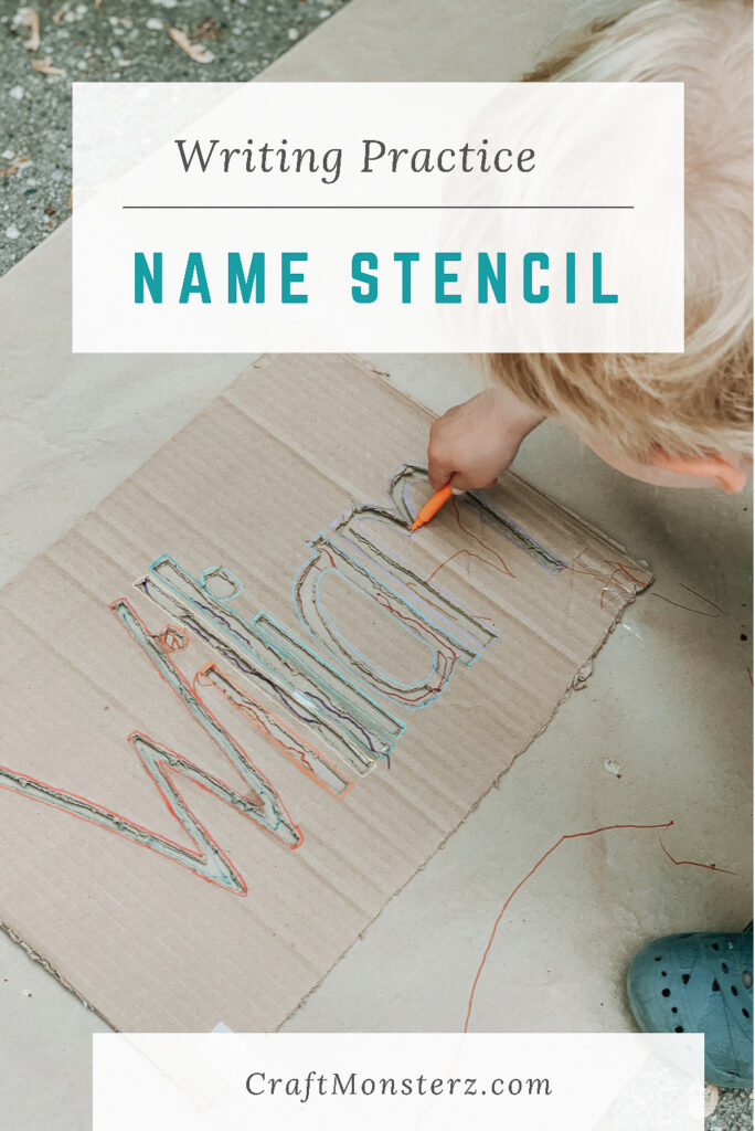 writing practice name stencil