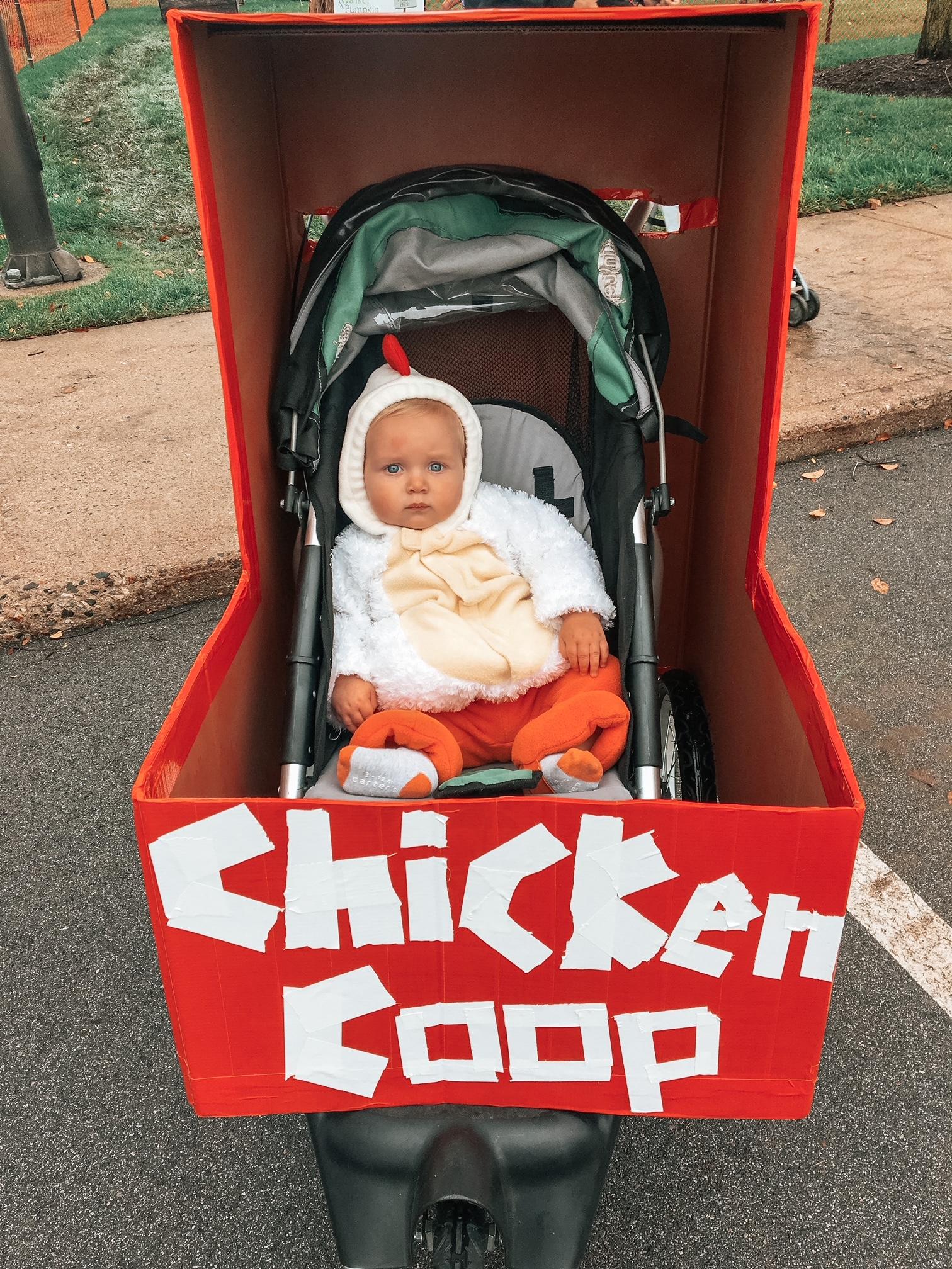 DIY baby Halloween costume for stroller