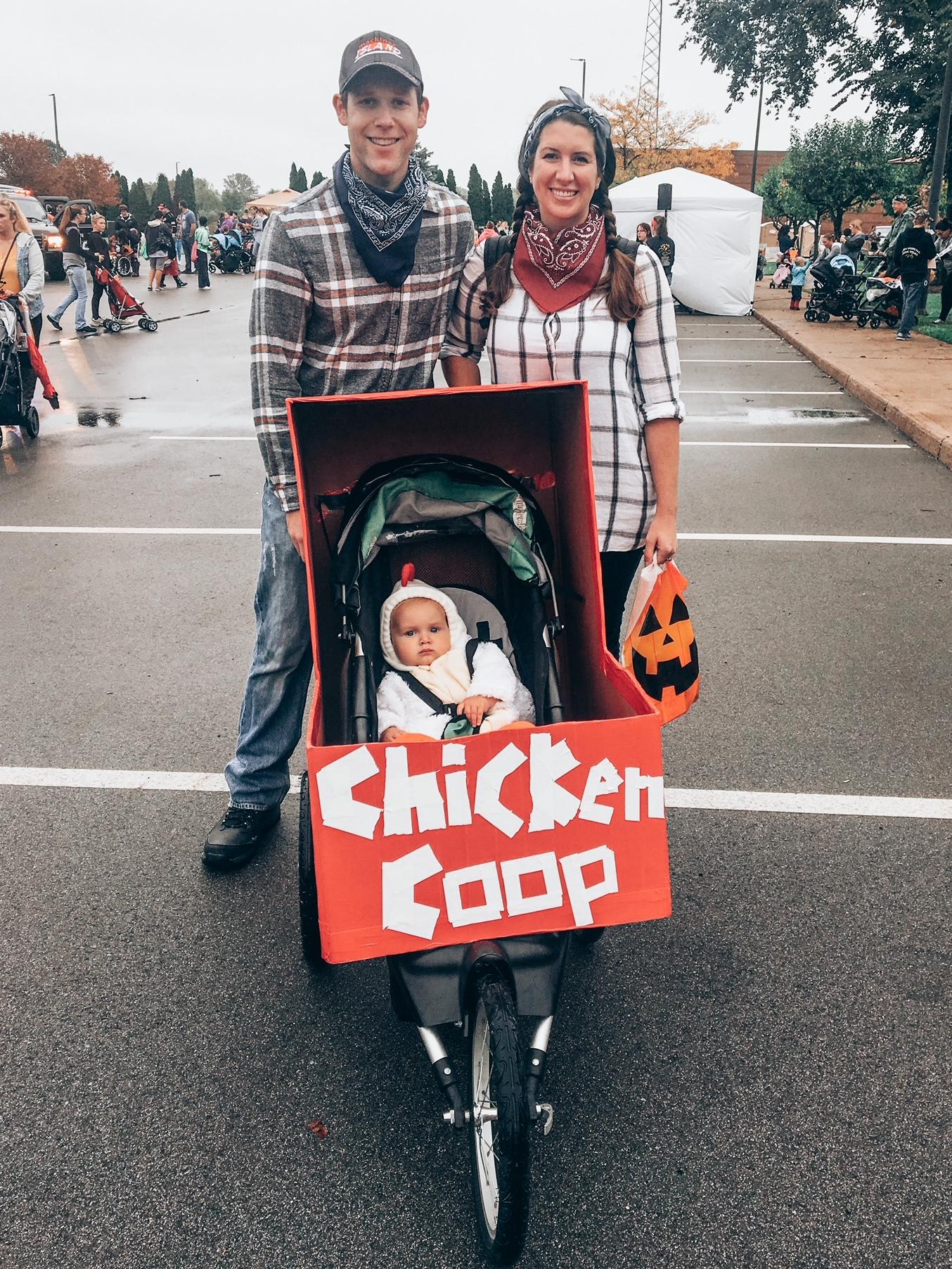 Chicken coop farm family costume